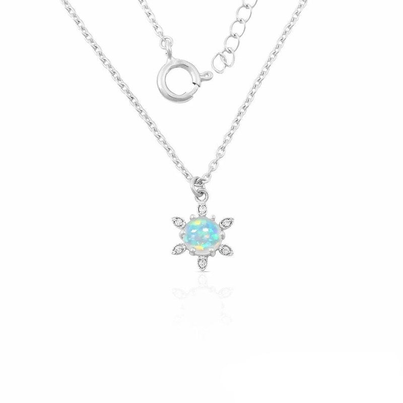 925 Silver Necklace With Opal Stone