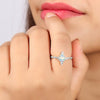 Genuine 925 Sterling Silver Opal Stone Ring Brilliance For Women