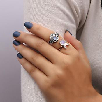 Moonstone Ring-Ethereal Noblesse