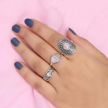 Moonstone Ring-Picturesque Moonband