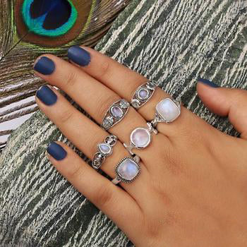 Moonstone Ring-Mini Teardrop