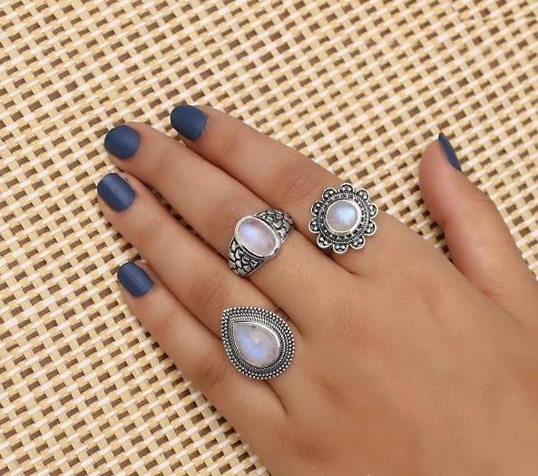 Moonstone Ring-Dreamy Teardrop
