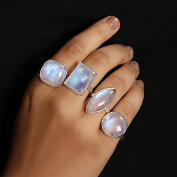 Moonstone Ring-Squared Instinct