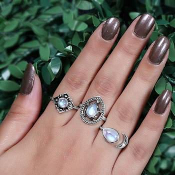 Moonstone Ring-Celestial Tear