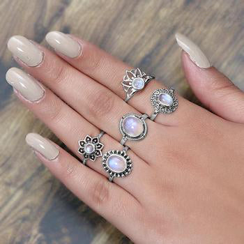 Moonstone Ring-Magical Blossom