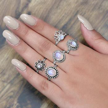 Moonstone Ring-Royal Fortune