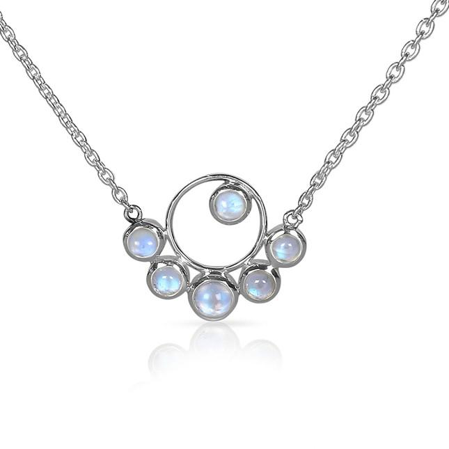 Sterling Silver Necklace With Moonstone