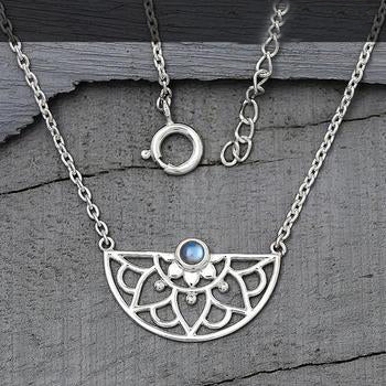 Moonstone Necklace-Adorned Aura