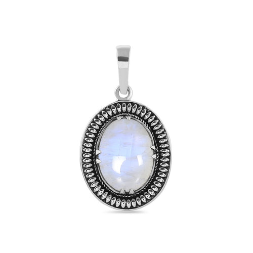 Moonstone Pendant-Scented Ambition Moonstone Pendant 925 SILVER & MOONSTONE