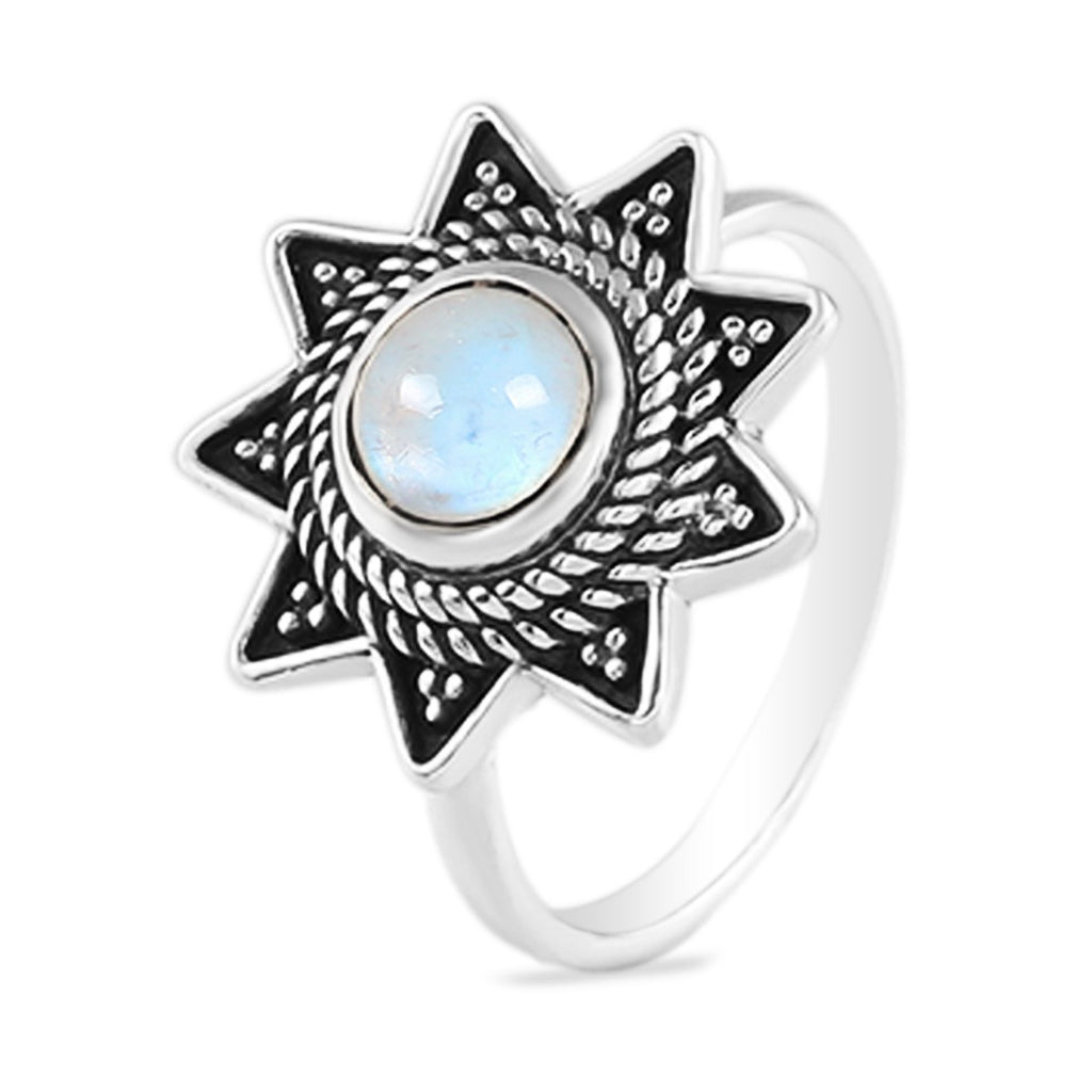 Moonstone Ring-Edwardian Stardust