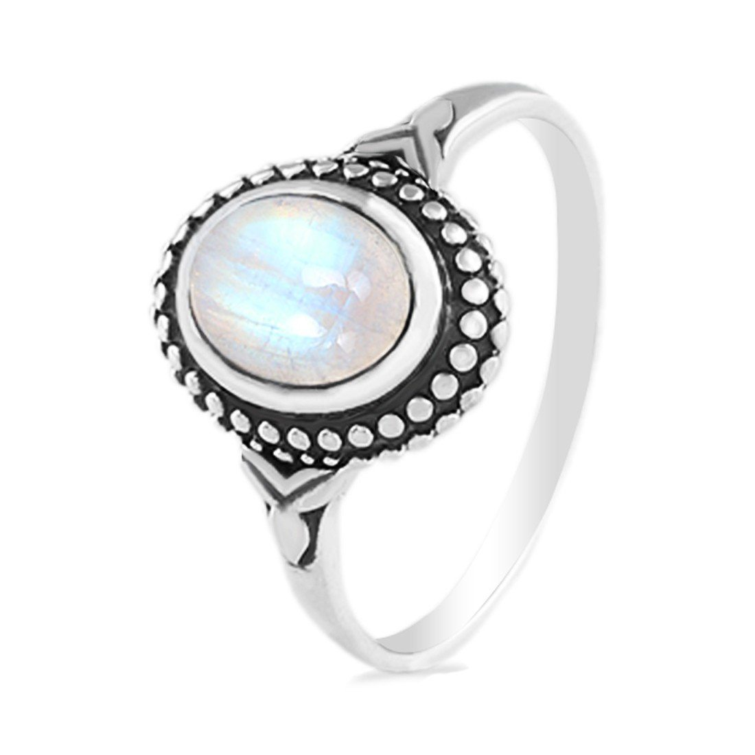 Moonstone Ring-Humble Siren Moonstone Ring 925 SILVER & MOONSTONE