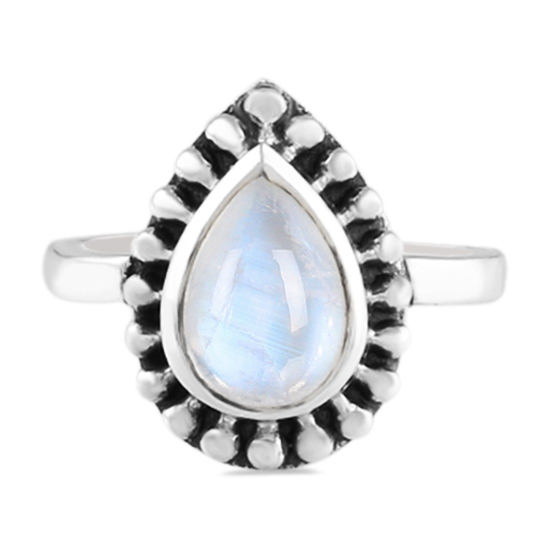 Moonstone Ring-Liberty Dewdrop
