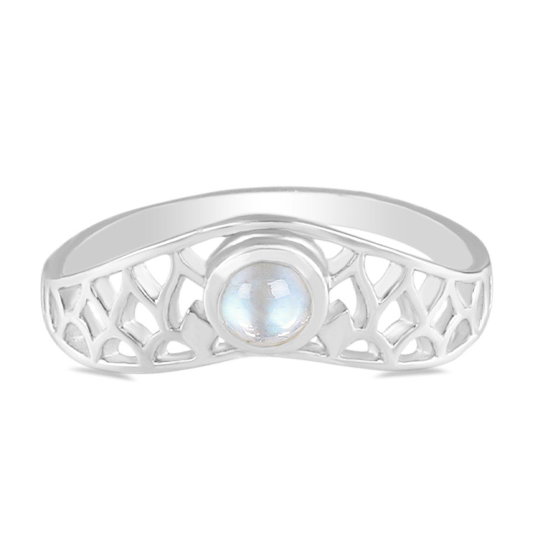 Moonstone Ring-Meshed Moon Sale Item 925 SILVER & MOONSTONE