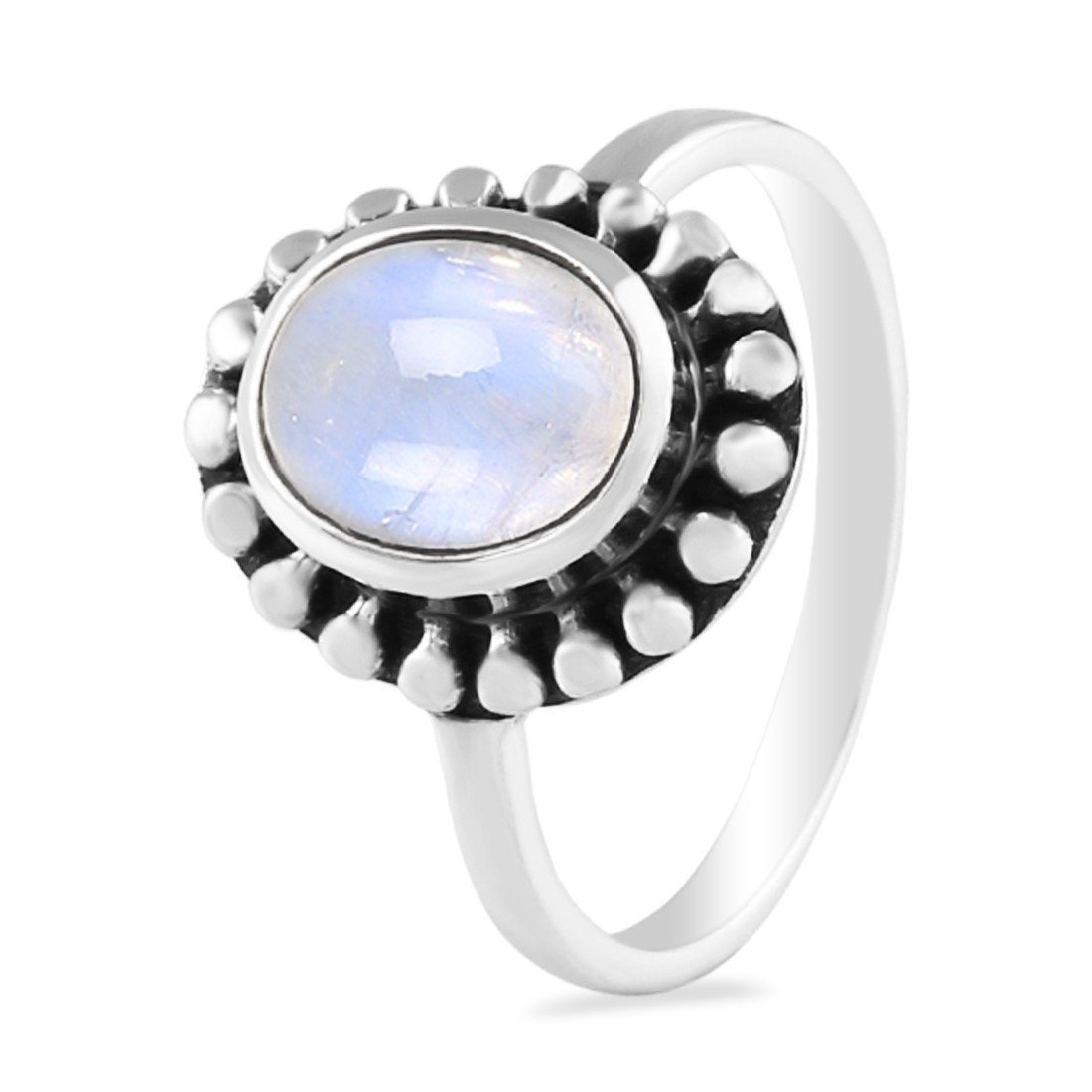 Moonstone Ring-Royal Fortune Moonstone Ring 925 SILVER & MOONSTONE
