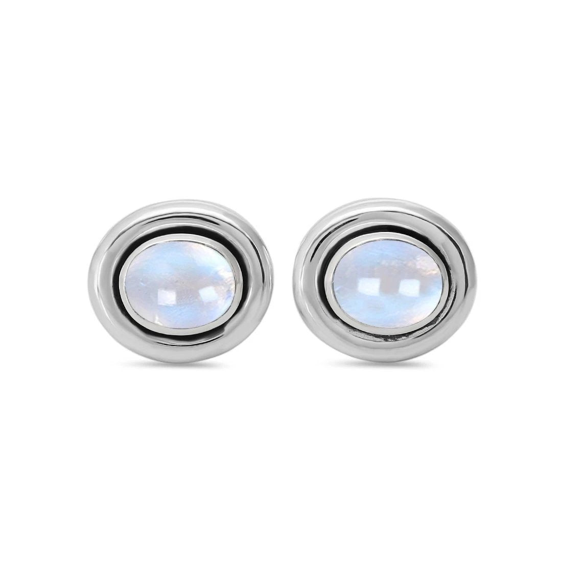 Sterling Silver Studs With Moonstone