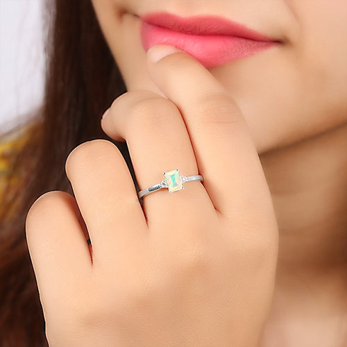 925 STERLING SILVER Opal Ring-Lure