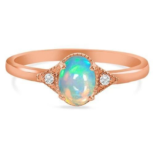 Original Opal Stone Ring Luck