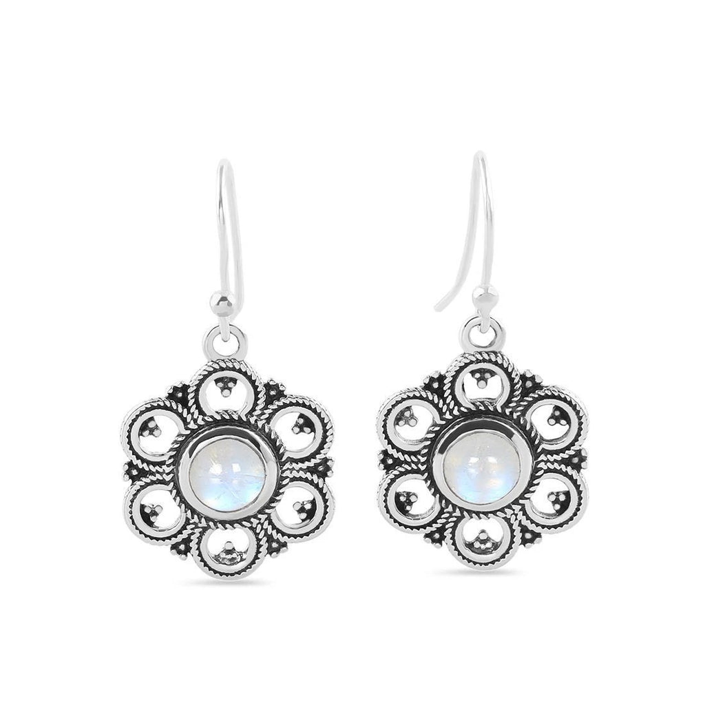 Sterling Silver Earrings With Moonstone