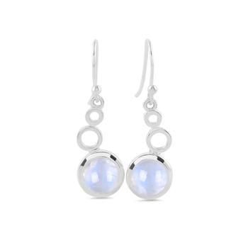 Moonstone Earring-Bubble Leaf
