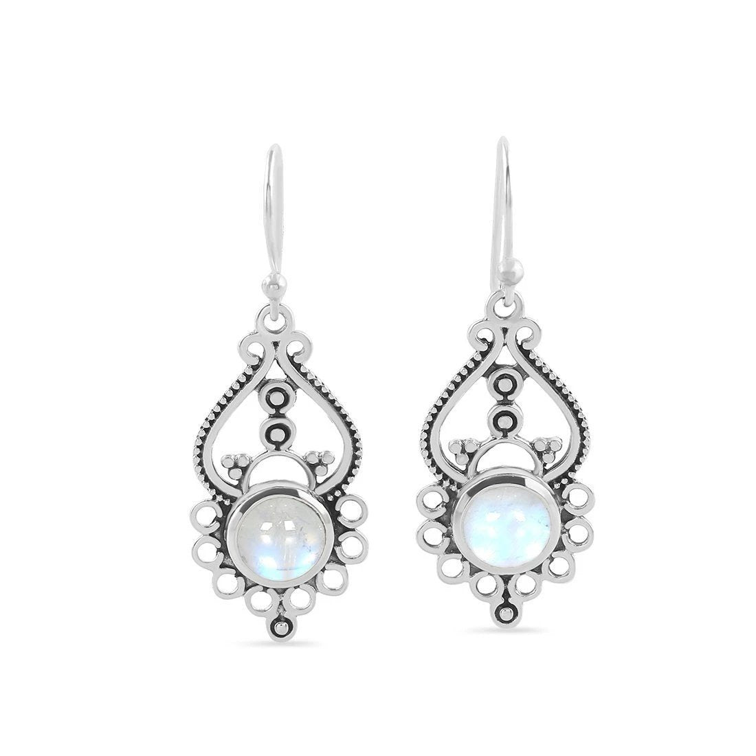 925 Silver Earrings With Moonstone