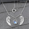 Moonstone Necklace-Angel Wings