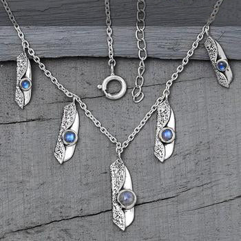 Moonstone Necklace-Drops Of Infinity