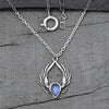 Moonstone Necklace-Festival Feather