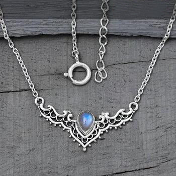 Moonstone Necklace-Iconic Delta
