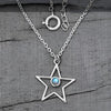 Moonstone Necklace-Moon And Star