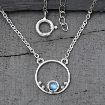 Moonstone Necklace-Moon Halo