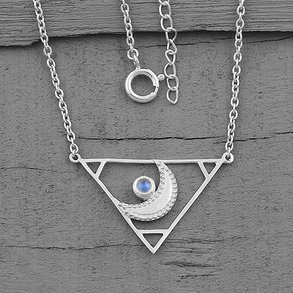 Moonstone Necklace-Poetic Spirit Moonstone Necklace 925 SILVER & MOONSTONE