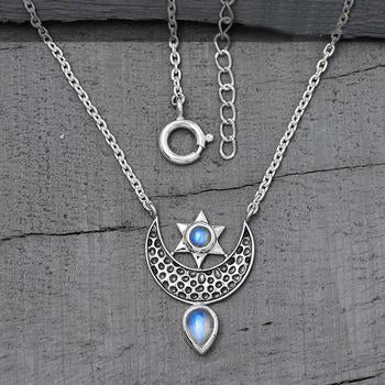 Moonstone Necklace-To The Moon & Back