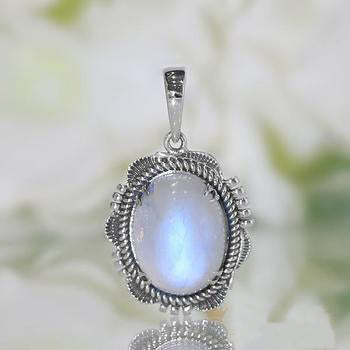 Moonstone Pendant-Blue Moon