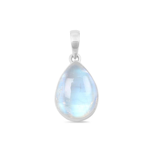 Moonstone Pendant-Dropping Philosophy Moonstone Pendant 925 SILVER & MOONSTONE