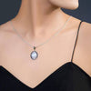 Moonstone Pendant-Ellipse