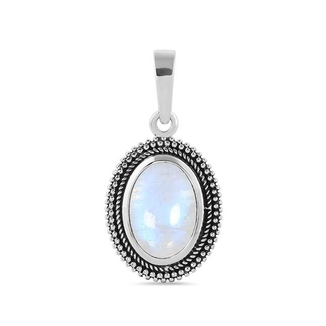 Sterling Silver Pendant With Moonstone