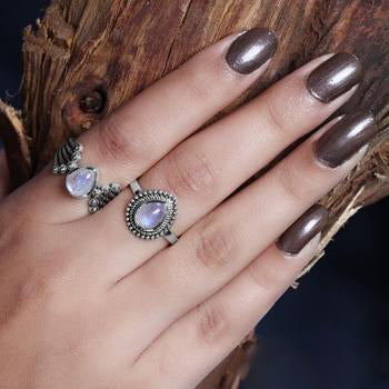 Moonstone Ring-Auspicious Moondrop