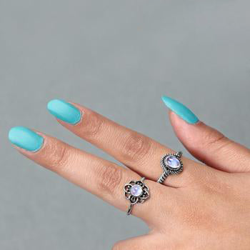 Moonstone Ring-Baroque Nook