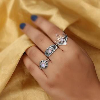 Moonstone Ring-Bella's Swan