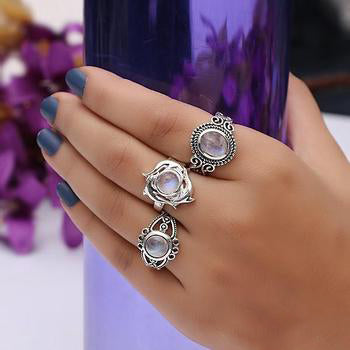 Moonstone Ring-Bewitching Rose
