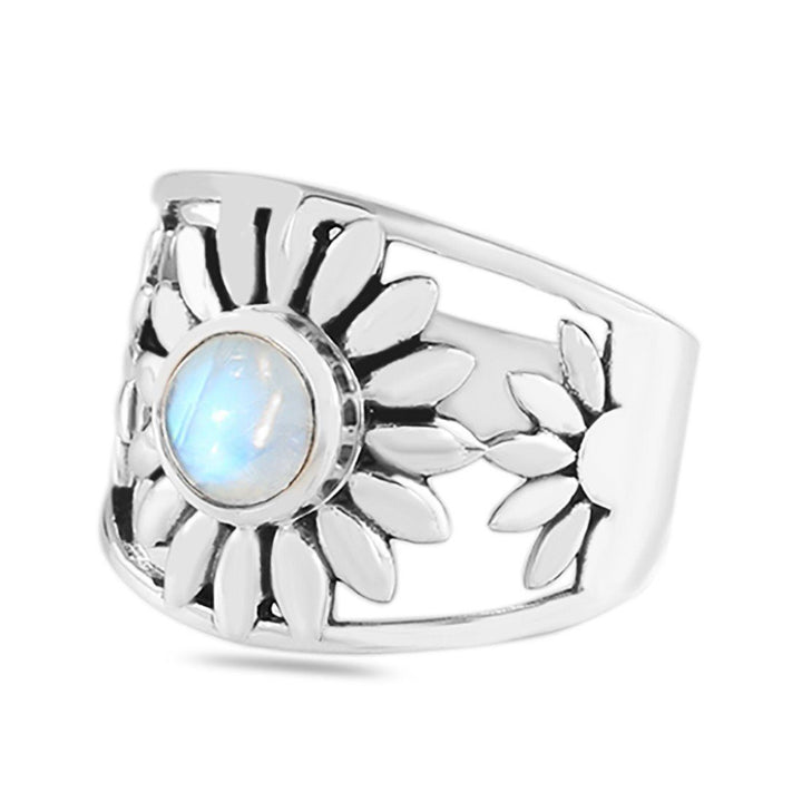 Moonstone Ring - Blossoming Moon