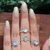 Moonstone Ring-Brilliant Crown