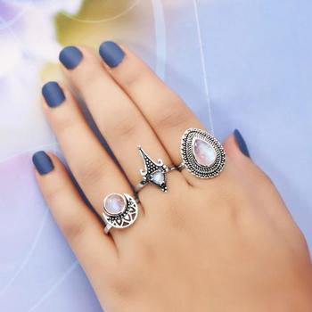 Moonstone Ring-Colossal Elegance