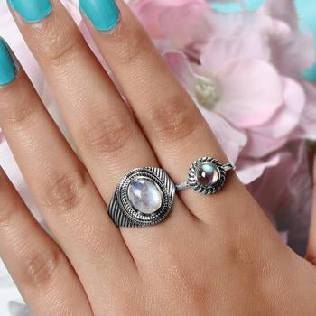 Moonstone Ring-Courageous Tides