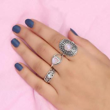 Moonstone Ring-Curious Alexendra