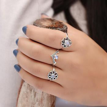 Moonstone Ring-Dainty Colleen