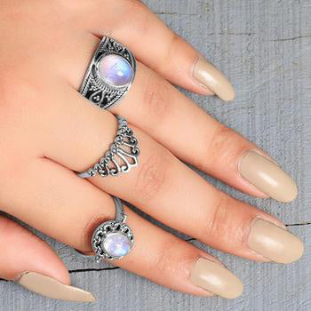 Moonstone Ring-Delicate Flair