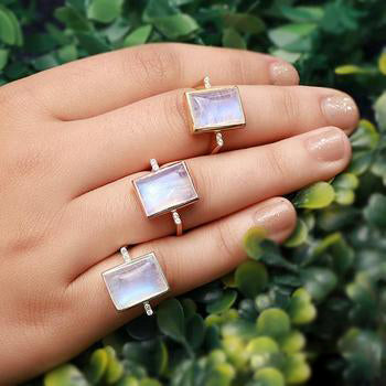 Moonstone Gold Ring - Essence