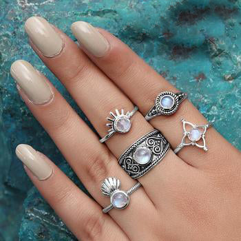Moonstone Ring-Exotic Life
