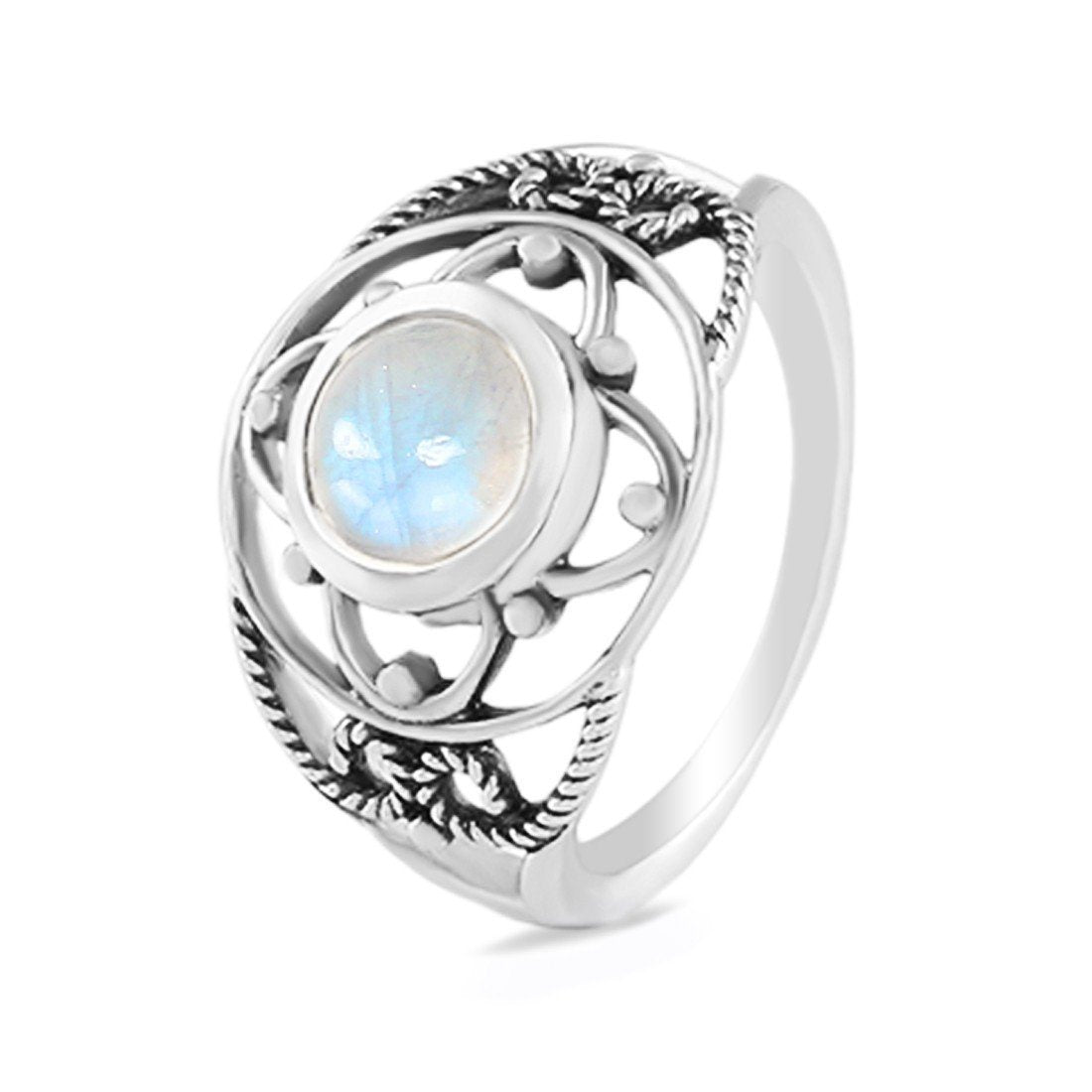 Moonstone Ring-Extended Spectra Sale Item 925 SILVER & MOONSTONE